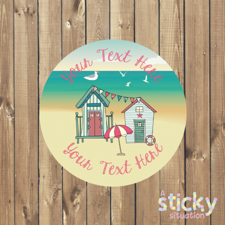 Personalised Customisable Stickers - Coastal Beach House Design